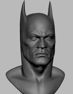batman head 3D