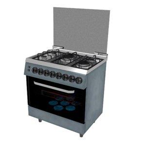 stylized kitchen stove 3D model