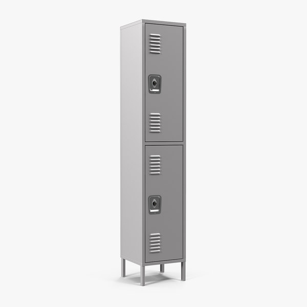 3D double tier steel lockers
