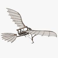leonardo da vinci glider 3D model