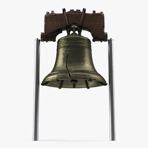 3D model independence hall liberty bell