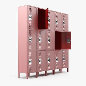 3D personal lockers