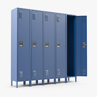 school lockers 3D model