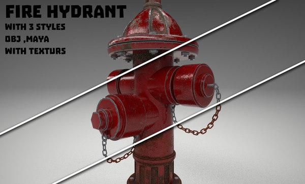 3D model hydrant 3