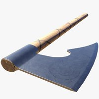 historically nordic knotwork axe 3D model