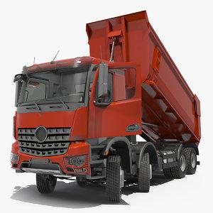 heavy utility dump truck 3D model