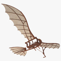 leonardo da vinci flying 3D