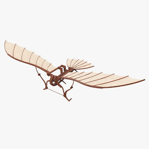 3D leonardo da vinci flying