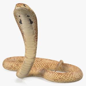3D light skin cobra rigged model