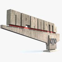 pripyat limit sign 3D