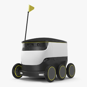 3D model personal delivery robot