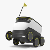 Self-Driving Robot Delivery Rigged