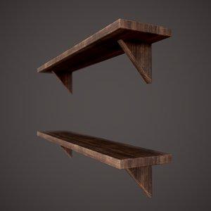 3D medieval tavern shelf