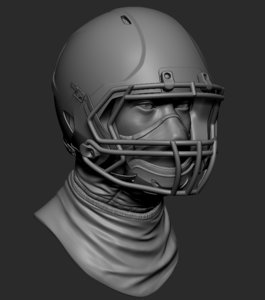 football helmet printable zbrush 3D