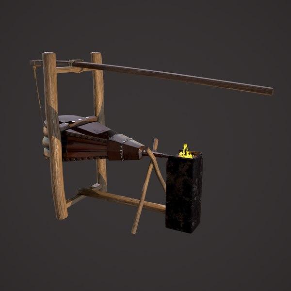 3D medieval bellows