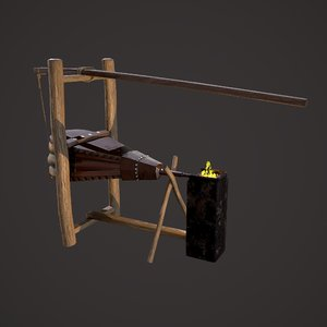 3D medieval bellows