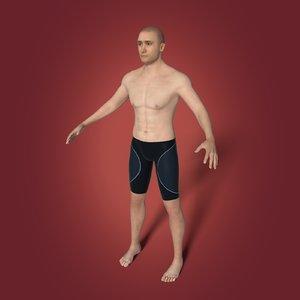 3D swimmer swim model