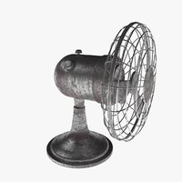desk fan old 3D