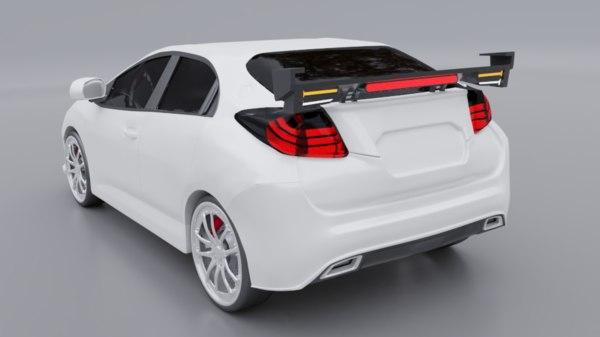 3D concept sedan car design model