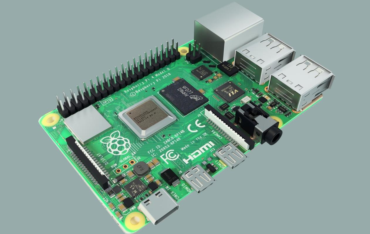 3D model single raspberry pi 4