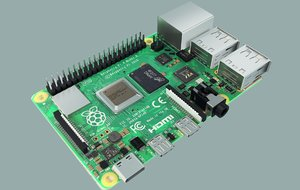 3D model single raspberry pi 4