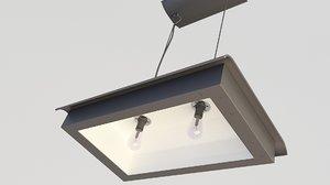 loft lamp industrial 3D model