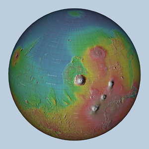 globe mars 3D