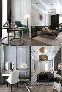 3D bedrooms room