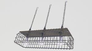 3D loft lamp industrial model
