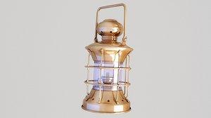 ship lantern lamp 3D model