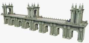 3D bridge fantasy arch