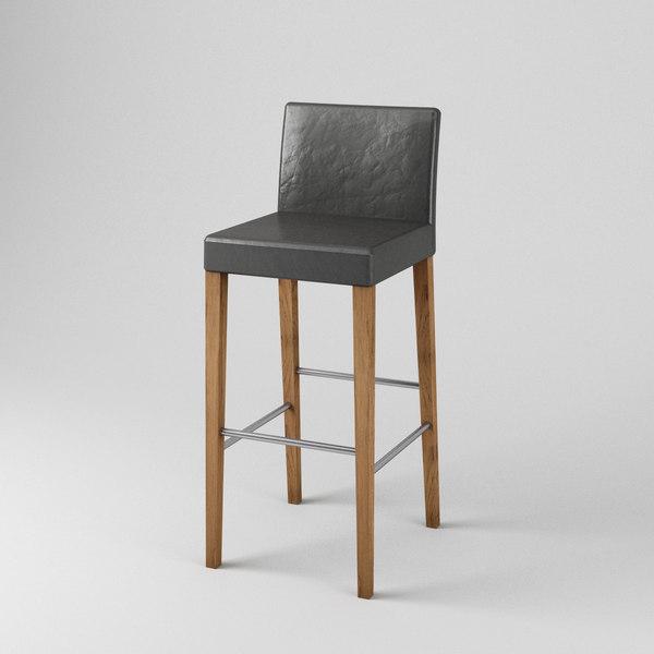 simple bar stool 3D model