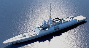 european mission frigate 3D model