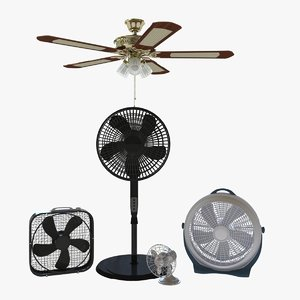 3D model fan floor box