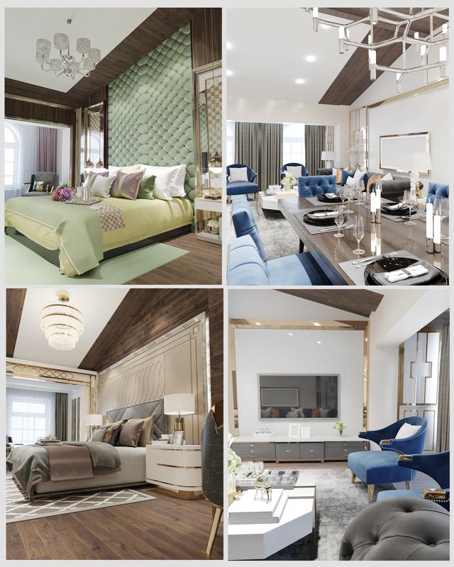 bedrooms modern designed model