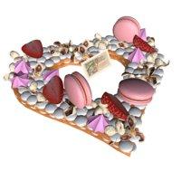 3D pie valentines cake model