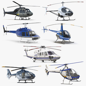 private helicopters 5 3D
