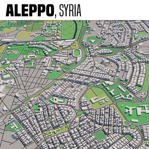 3D city aleppo syria model