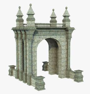 3D fantasy gate arch