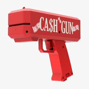 3D ca$h gun money toy