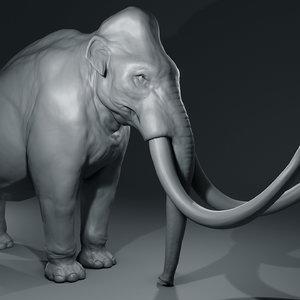 3D mammoth basemesh