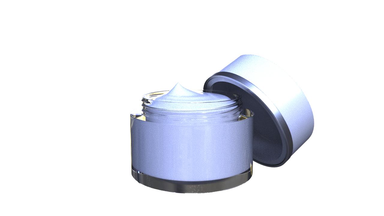 3D model cream bottle