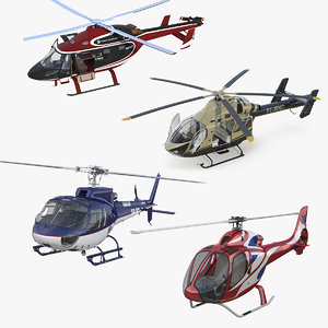 private helicopters 4 3D model
