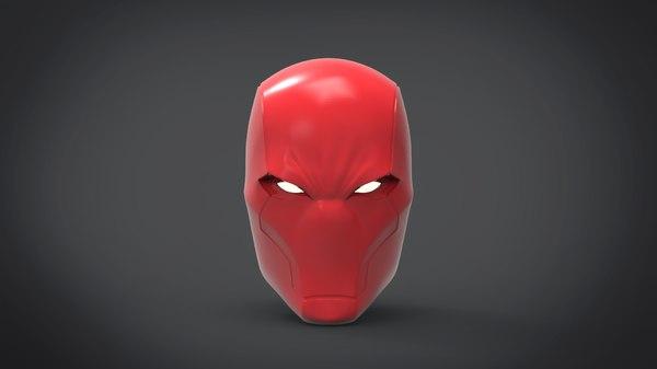 red hood helmet 3D model