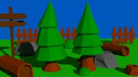 3D nature tree