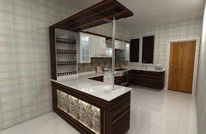 3D model kitchen 1984