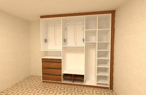 dress cabinet 3D model