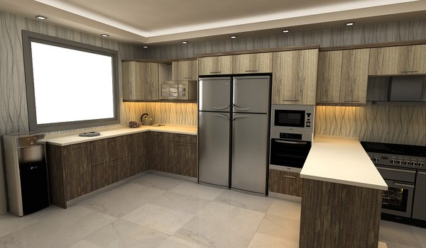 kitchen series 3D model