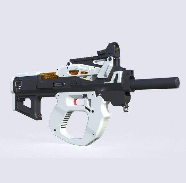 3D futuristic gun weapon