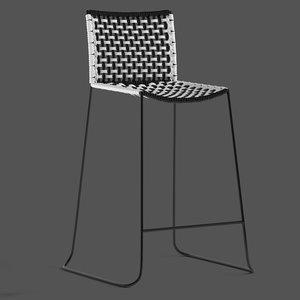 cult furniture reine stool 3D model
